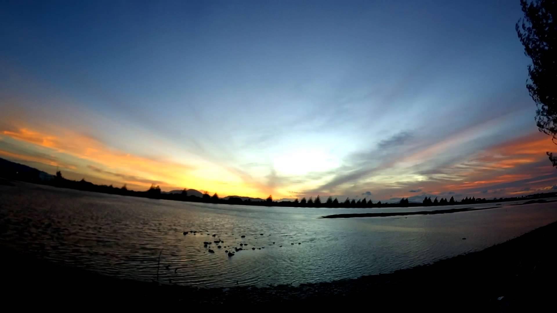 Sunset at Alue Naga River Banda Aceh