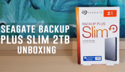 Seagate Backup Plus Slim 2TB Unboxing