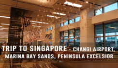 Trip to Singapore - Changi Airport, Marina Bay Sands Light Show, Peninsula Excelsior Hotel