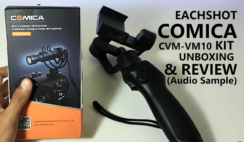 Mini Condenser Microphone Eachshot Comica CVM-VM10 Kit Unboxing & Review (Audio Sample Included)