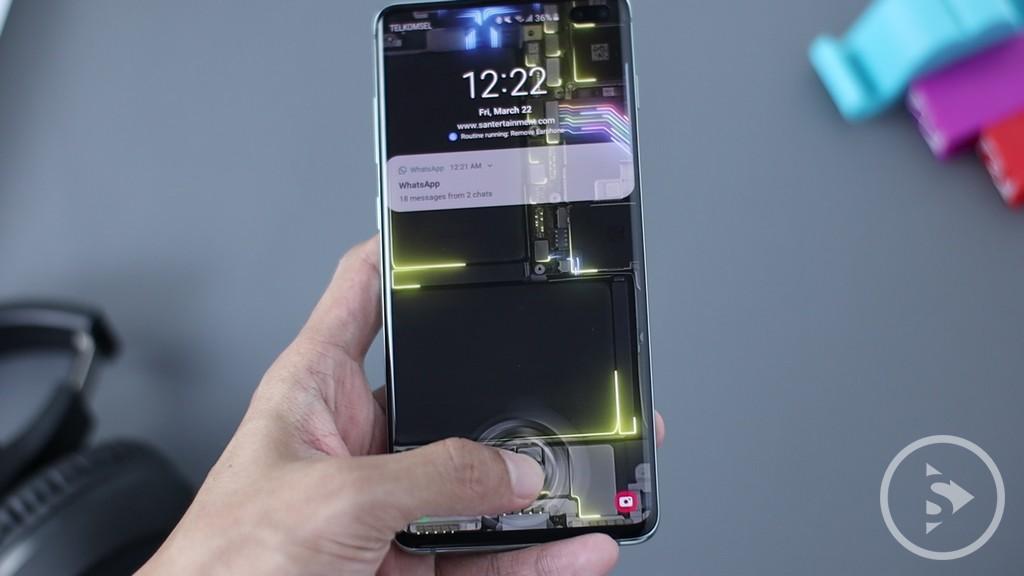 PERFORMANCE & SPECIFICATIONS - Samsung Galaxy S10 Plus Fingerprint Test