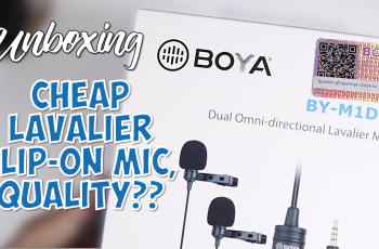 Unboxing Boya BY M1DM Dual, Cheap Lavalier Mic for Youtuber