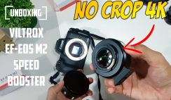 Unboxing Viltrox EF-EOS M2 Speed Booster - Solves 4K Crop Issue on Canon EOS M50!