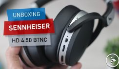 Unboxing Sennheiser HD 4.50 BTNC - Wireless Bluetooth Noise Canceling Headphone with aptX technology